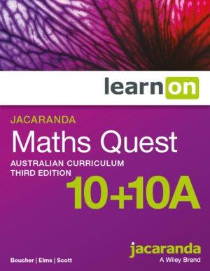 Jacaranda Maths Quest 10&10AAustralian Curriculum VIC LearnON (DIGITAL)