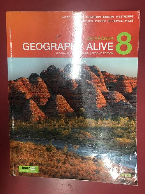 Jacaranda Geography Alive 8Australian Curriculum (SECOND HAND)