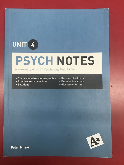 A+ Psych Notes Unit 4 5E (SECOND HAND)