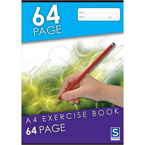 2x Exercise Book A4 8mm 64 Page