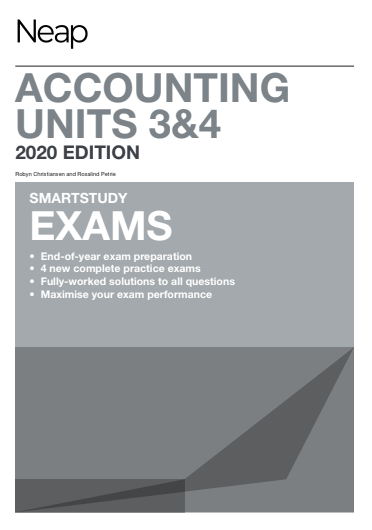 NEAP Smartstudy Exams Accounting VCE Units 3 & 4