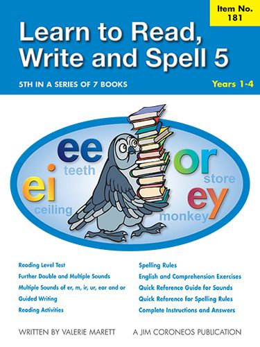 Spell Book 5 Yrs K to 1 (Item no. 181)