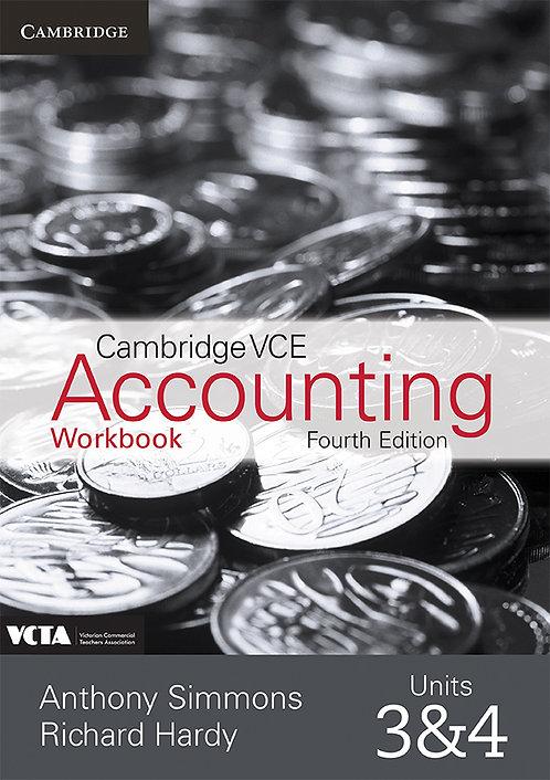 Cambridge VCE Accounting Units 3&4 4E Workbook