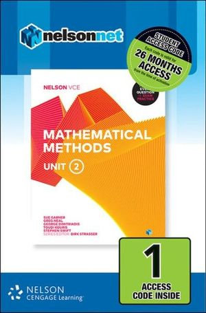 Nelson VCE Mathematical Methods Unit 2 (1 Access Code) (DIGITAL)