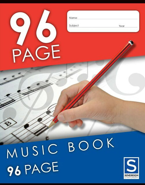 1x Music Book 96 Page 64 Page/32 Page Stave