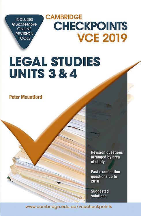 Cambridge Checkpoints VCE Legal Studies Units 3&4 2019