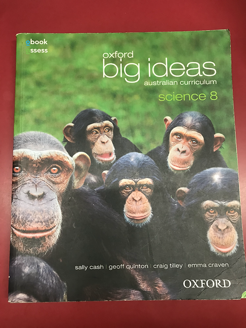 Oxford Big Ideas Australian Curriculum Science 8 (SECOND HAND)