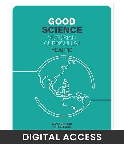 Good Science 10 Victorian Curriculum Teacher's Edition (DIGITAL)