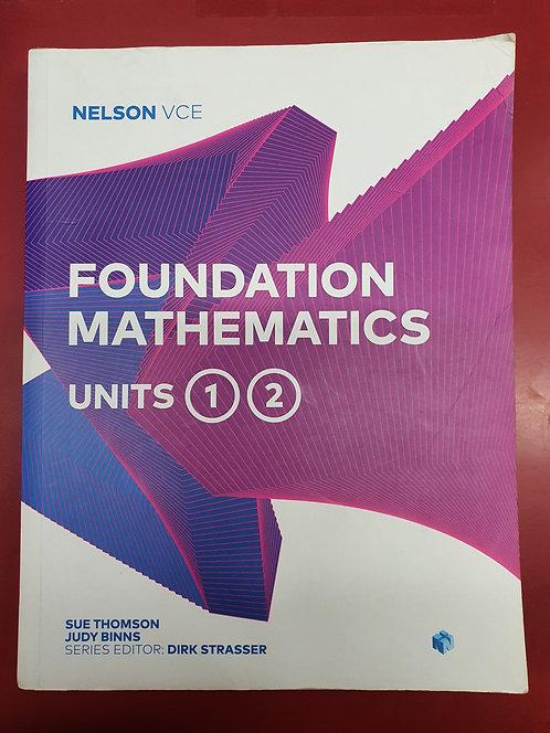 Nelson VCE Foundation Mathematics Units 1&2 SH