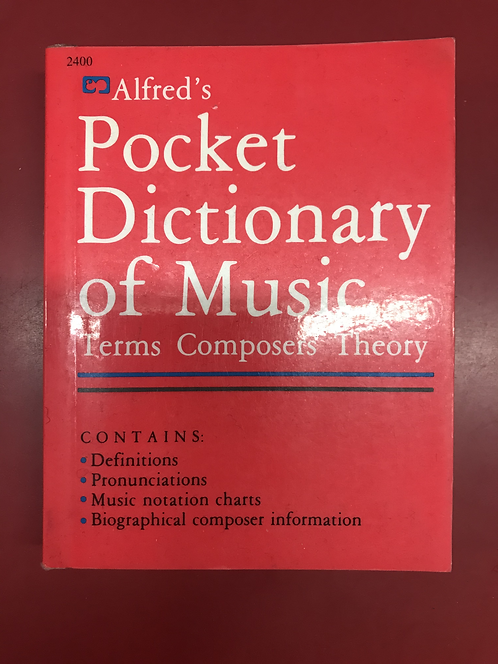 Alfred's Pocket Dictionary of Music (SECOND HAND)
