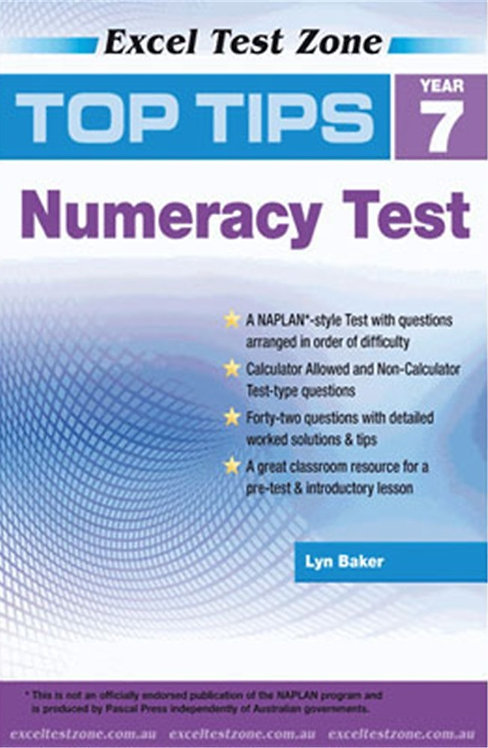 Excel Test Zone Top Tips Numeracy Test Yr 7