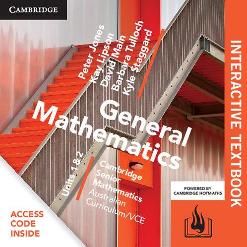 Cambridge Senior Maths: VCE General Mathematics Units 1&2 Interactive Text