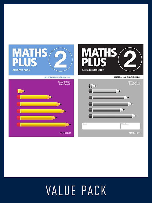 Maths Plus Australian Curriculum Student and Assessment Book 2 Value Pack 2020