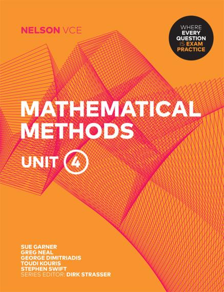 Nelson VCE Mathematical Methods Unit 4 Print + 4 Access Codes (PRINT + DIGITAL)