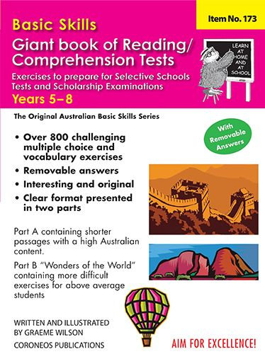 Basic Skills Giant Book of Reading / Comprehension Tests Years 5 to 8 (No. 173)