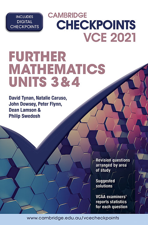 Cambridge Checkpoints VCE Further Mathematics Units 3&4 2021