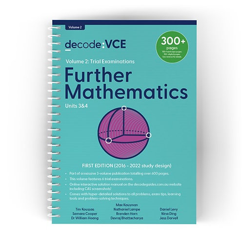 Decode: VCE Further Mathematics Units 3&4 Volume 2