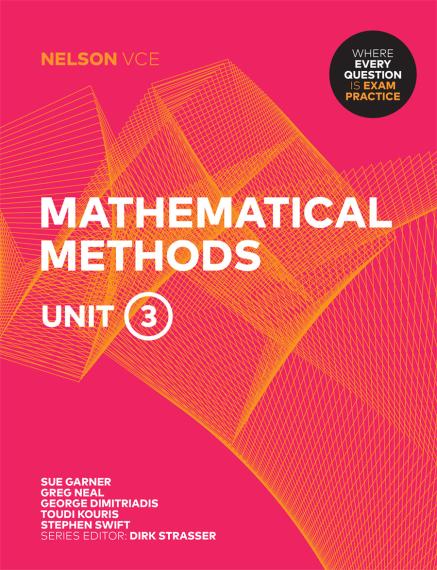 Nelson VCE Mathematical Methods Unit 3 Print + 4 Access Codes (PRINT + DIGITAL)