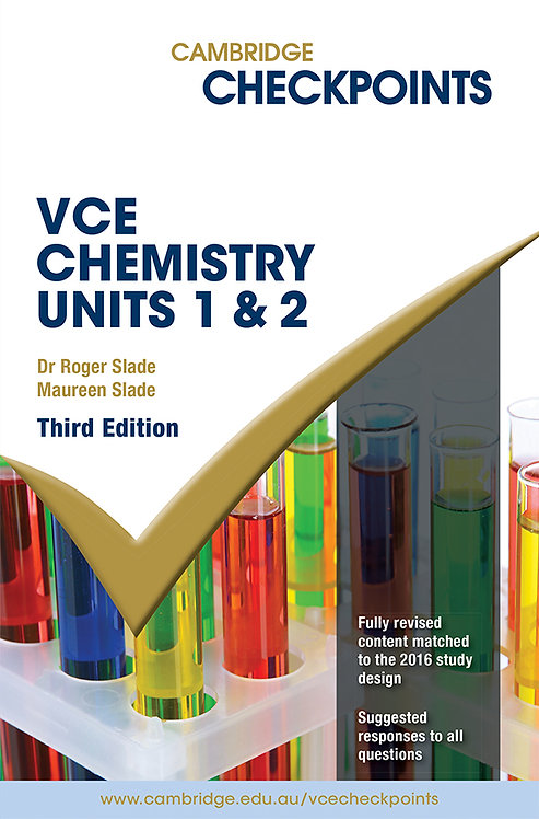 Cambridge Checkpoints VCE Chemistry Units 1&2 3E