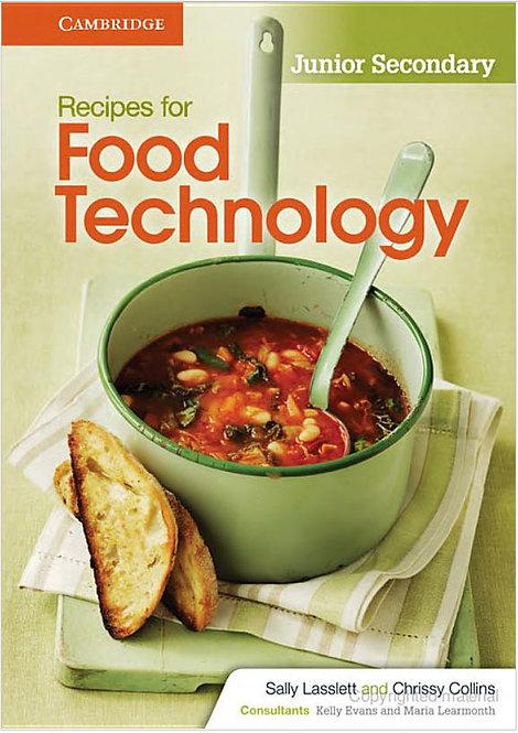 Recipes for Food Technology Junior Secondary Workbook (DIGITAL)