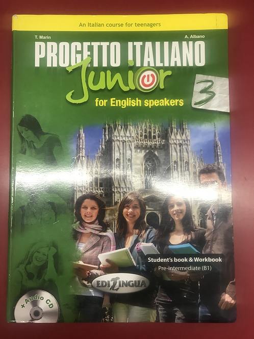 Progetto Italiano Junior : for English Speakers 3 (SECOND HAND)