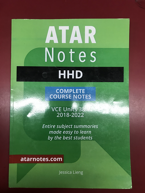 ATARNotes HHD Complete Course Notes Units 3&4 2E (SECOND HAND)