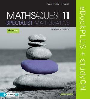 Jacaranda Maths Quest 11 VCE Specialist Mathematics ebookPLUS +StudyON (DIGITAL)