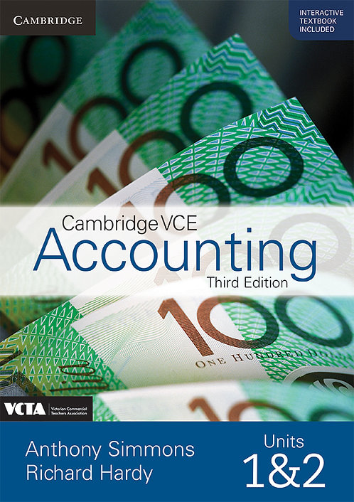 Cambridge VCE Accounting Units 1&2 3E Value Pack (PRINT + DIGITAL)