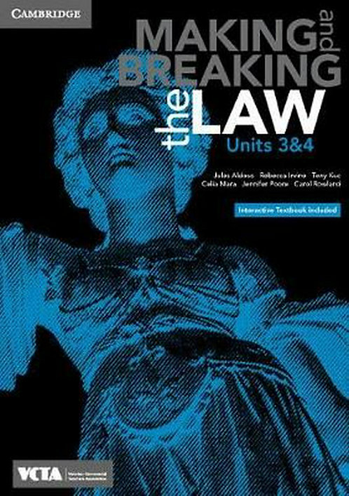 Cambridge Making and Breaking the Law VCE Units 3&4 (PRINT + DIGITAL)
