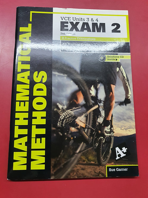 A+ Mathematical Methods Exam 2 VCE Units 3&4 (PRINT) (SECOND HAND)