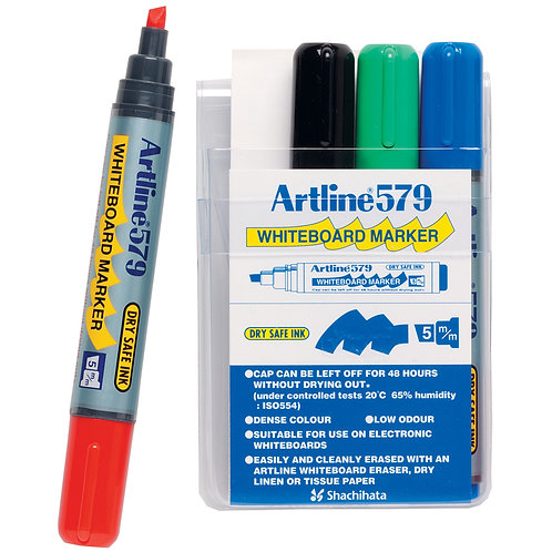 1x 4-Pack Whiteboard Markers Artline 579