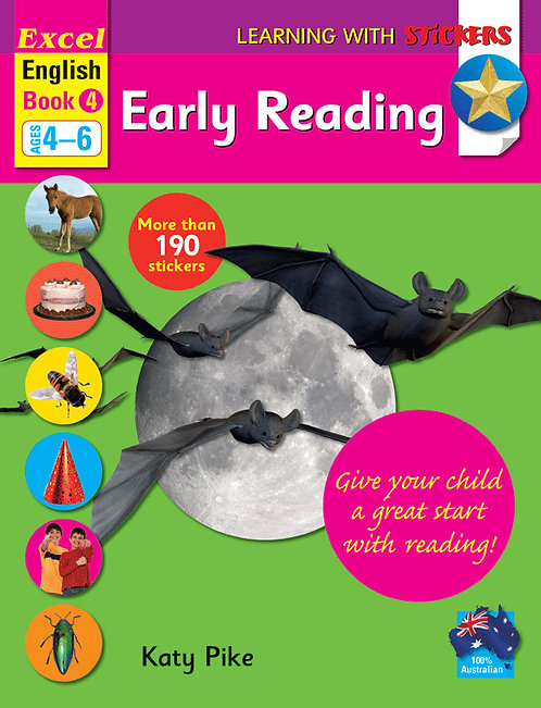 Excel Learning with Stickers English Book 4 School Skills–Reading Ages 4–6