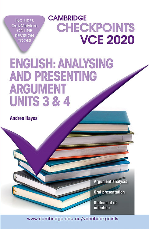 Cambridge Checkpoints VCE English: Analysing & Presenting Arguments 3&4 2020