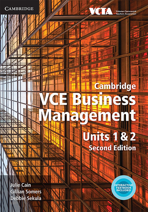Cambridge VCE Business Management Units 1&2 2E (PRINT + DIGITAL)