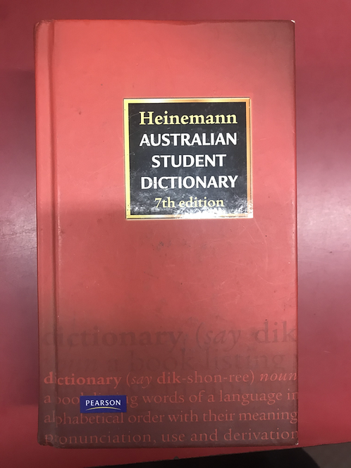 Heinemann Australian Student Dictionary 7E (SECOND HAND)