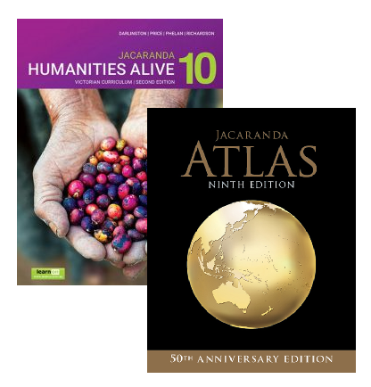 Humanities Alive 10 2E Victorian Curriculum + Atlas 9E (PRINT + DIGITAL)