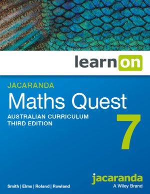 Jacaranda Maths Quest 7 Australian Curriculum 3E LearnON (DIGITAL)