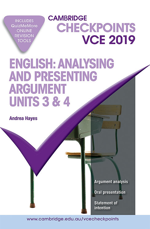 Cambridge Checkpoints VCE English : Analysing and Presenting Arguments Units 3&4