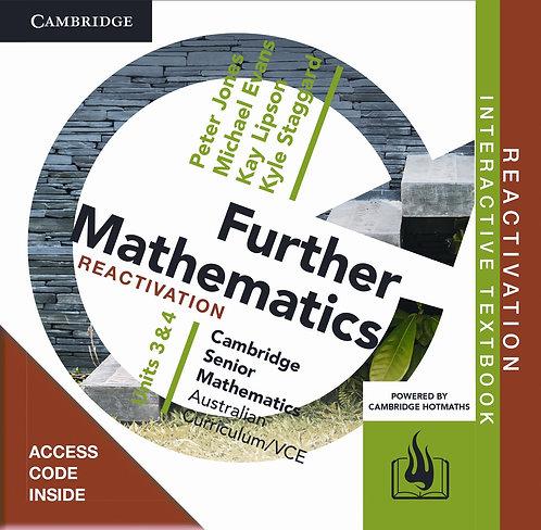 Cambridge Senior Maths: VCE Further Mathematics Units 3&4 Reactivation Code