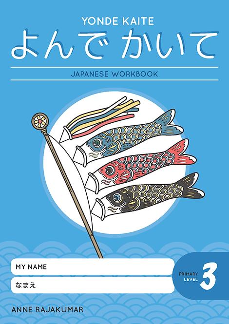 Yonde Kaite Japanese Workbook Primary Level 3