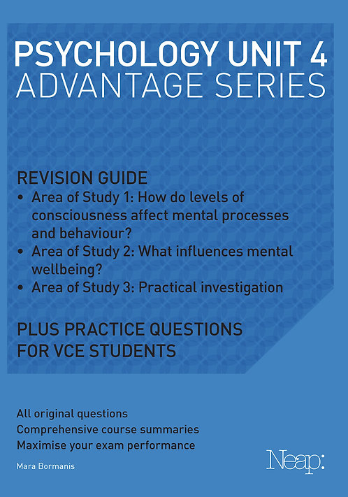 Psychology Unit 4 Advantage Series (2017 Ed)