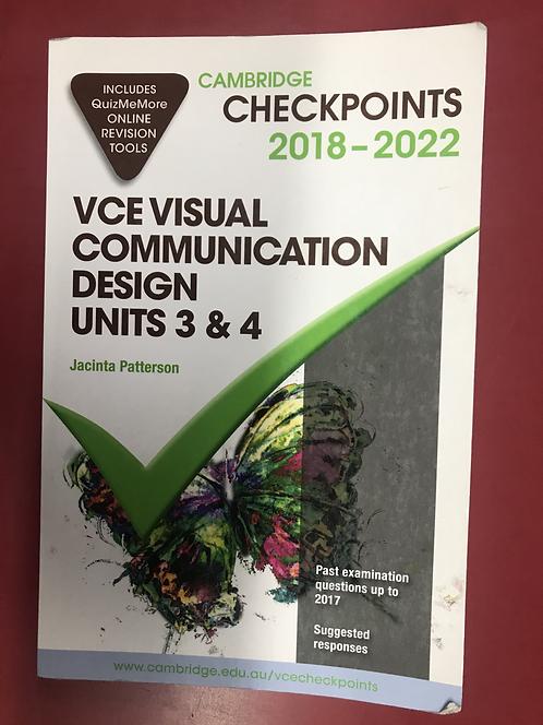 Cambridge Checkpoints VCE Visual Communication Design Units 3&4 2018-2020 (SECON