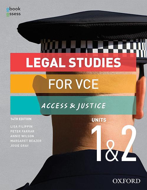 Access and Justice VCE Legal Studies Units 1&2 14E (PRINT + DIGITAL)