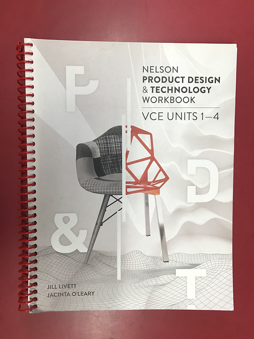 Nelson Product Design and Technology VCE Units 1 – 4 Workbook (SECOND HAND)