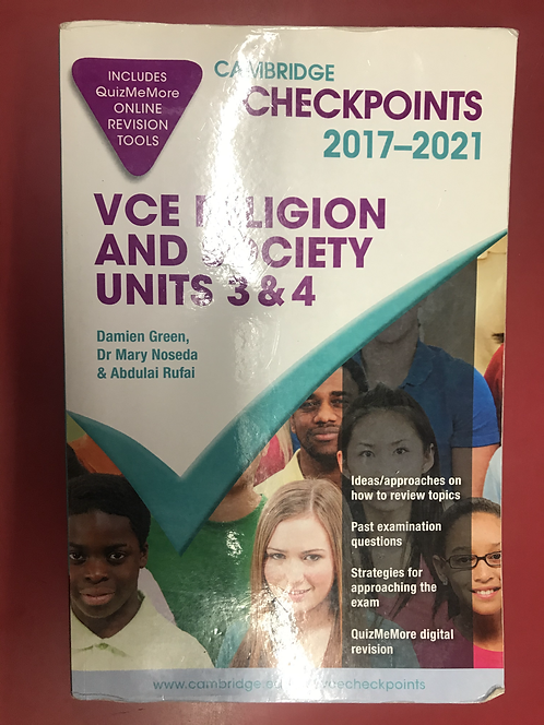 Cambridge Checkpoints VCE Religion and Society Units 3&4 2017-2021 (SECOND HAND)