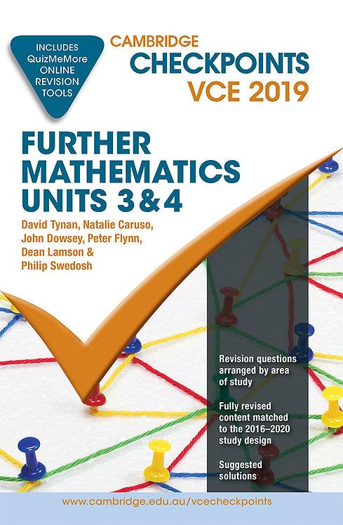 Cambridge Checkpoints VCE Further Mathematics Units 3&4 2019