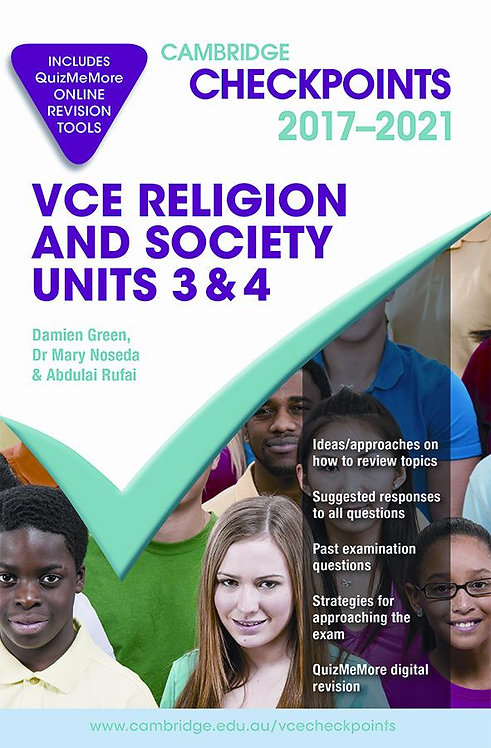 Cambridge Checkpoints VCE Religion and Society Units 3&4 2017-2021