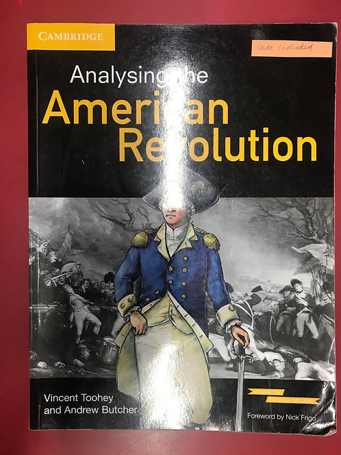 Analysing the American Revolution 2E(SECOND HAND)