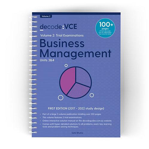 Decode: VCE Business Management Units 3&4 Volume 2