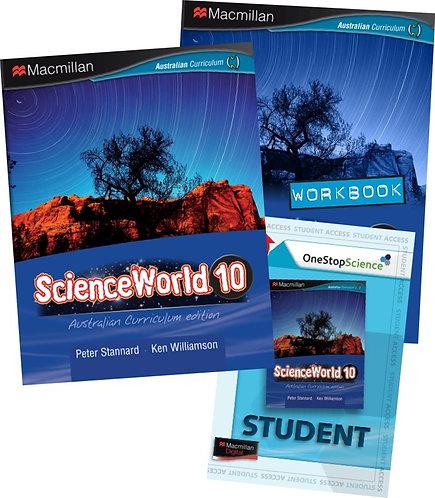 Macmillan ScienceWorld 10 Australian Curriculum Student Book + Workbook Pack 4E